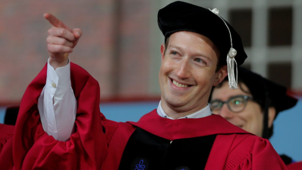 Facebook chief Mark Zuckerberg receives Harvard degree 12 years after dropping out