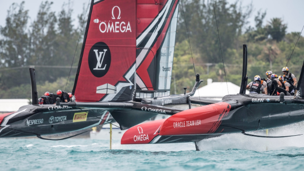 America's Cup Boat Capsize Spectacularly-But Team Still Leads Semifinal