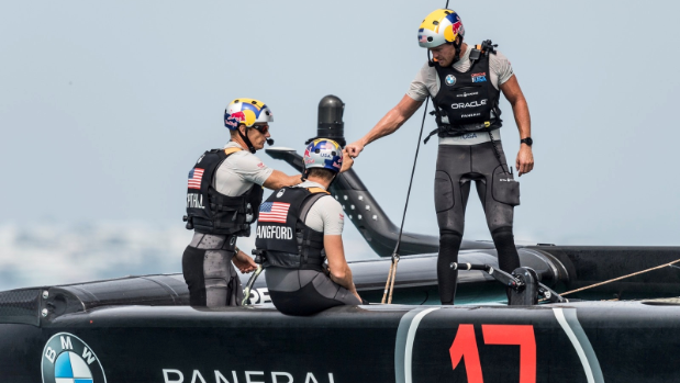 Sailing-New Zealand capsize in America's Cup semi, crew safe