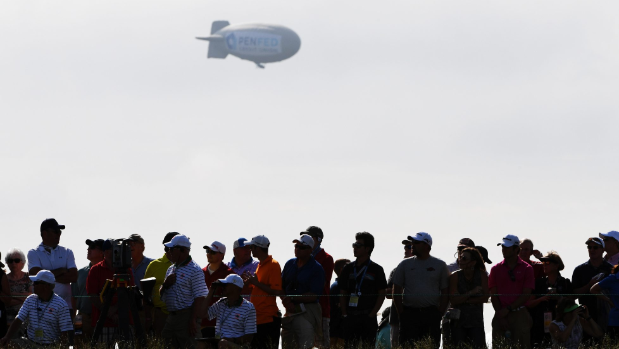 Blimp Catches Fire, Crashes Near US Open Site