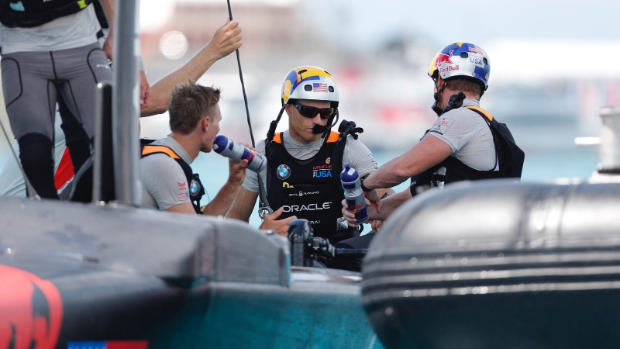 America's Cup: Oracle Team USA hunker down in the boatshed