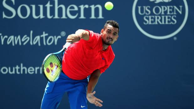 Aussie tennis brat Nick Kyrgios hi-fives crowd after savage victor
