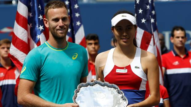 Michael Venus beaten by Martina Hingis' team in US Open mixed doubles final