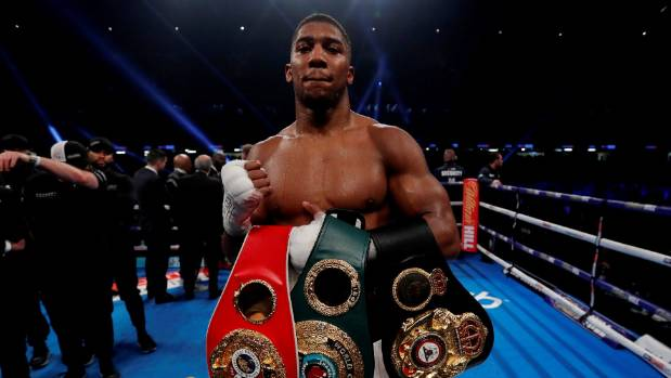 Anthony Joshua responds after Deontay Wilder accuses him of ducking fight
