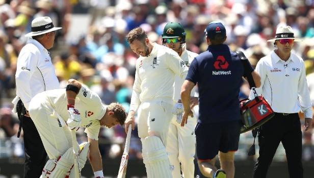 Aggressive Aussies dismiss Stoneman and Root in eventful session