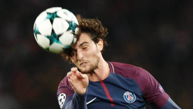 CHRISTOPHE ENA  AP       Adrien Rabiot headed in PSG's second goal against Amiens but the referee's watch did not vibrate to indicate a goal
