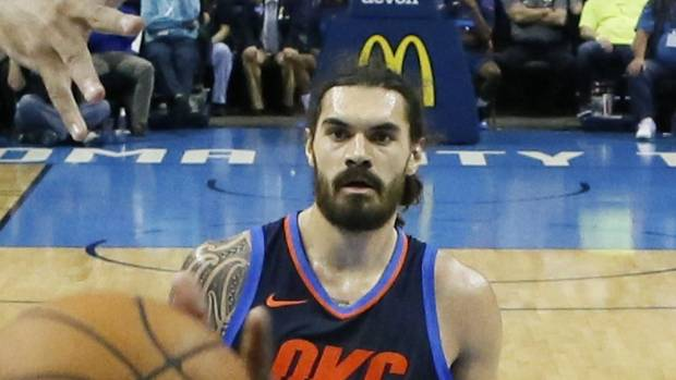 Steven Adams slams ridiculous one-hand dunk as OKC crush Lakers