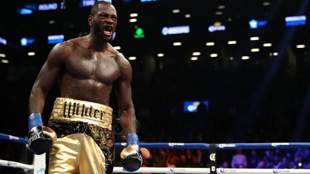 GETTY IMAGES       Deontay Wilder will turn his attention to dethroning Anthony Joshua after his fight against Cuban Luiz Ortiz on Sunday