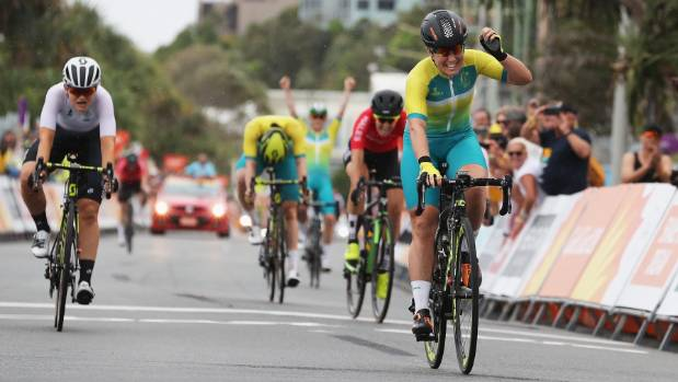 New Zealand wins silver in Commonwealth Games women's road race
