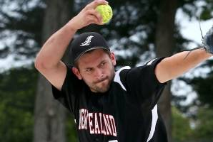 Pitcher felled by hit in face