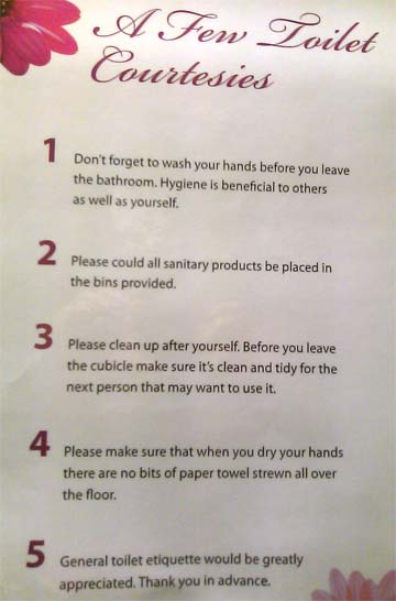 What Is General Toilet Etiquette Stuff Co Nz